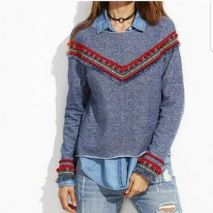 Sweaters - ❤️DENIM LOOK TASSEL SWEATER ❤️